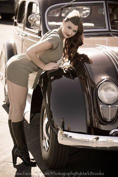Dieselpunk -- Sure, it's the standard garrison cap, but the short skirt and boots are really cute.