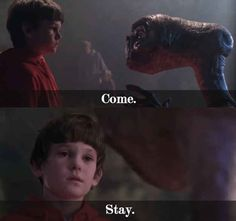 Movie Quotes Guaranteed To Make You Cry Every Time E. the Extra-TerrestrialE. the Extra-Terrestrial Best Horror Movies, 80s Movies, Film Movie, Good Movies, Et Quotes, Movie Quotes, Try Not To Cry, Make You Cry, Super Villain Names