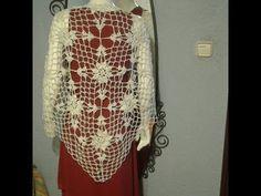 crochet chal shawl de boda - YouTube