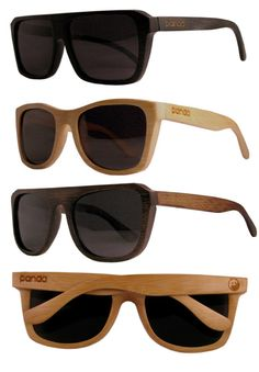 Panda: ecofriendly handmade bamboo sunglasses