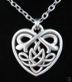 Celt heart necklace