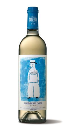 Terras Gauda / The label of this wine bottle is actually the poster creation of German designer Sebastian Büsching.