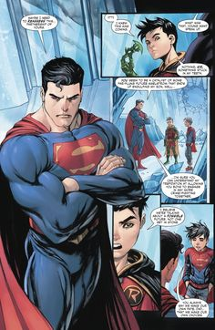 Super Sons Issue - Read Super Sons Issue comic online in high quality - Superman - Superman Family, Superman Man Of Steel, Superman Comic, Batman And Superman, Robin Superhero, Superhero Facts, Dc Comics Superheroes, Marvel Dc Comics, Action Comics 1