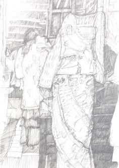 Guido Michl, Model shop, Graphit auf Papier, 29,7 x 21 cm, 2009, 250 €