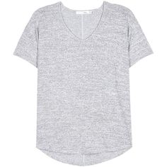 Rag & Bone Melrose T-Shirt ($140) ❤ liked on Polyvore featuring tops, t-shirts, grey, grey t shirt, gray top, gray tee, grey top and grey tee