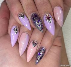 29 Latest Luminous Nail Art Designs That – Stiletto Nails, Gel Nails, Manicures, Cute Nails, Pretty Nails, Luminous Nails, Finger, Moon Nails, Luxury Nails