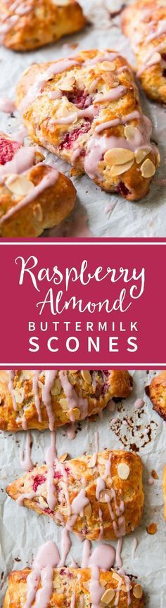 The BEST raspberry almond scones! Buttermilk scones are easy and delicious for Mother's Day brunch! Recipe on sallysbakingaddiction.com