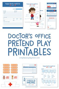 Doctor Dramatic Play | These doctor pretend play printables make the perfect kindergarten or preschool activity when studying community helpers! #pretendplay #kidsactivities #ideasforkids #preschooler #kindergarten #play #dramaticplay #teacher #homeschool