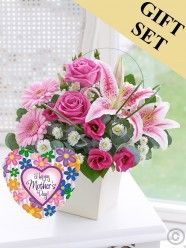 Pink Exquisite Arrangement & Mother's Day Balloon