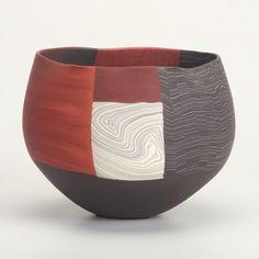 "THOMAS HOADLEY-signed with artist's cypher Nerikomi porcelain bowl, New York State  Height: 5 1/2"" Width/Diameter: 8"" Depth: 7 1/2"""