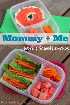 Keeley McGuire: Lunch Made Easy: Work & School Mommy + Me Lunches #glutenfree #nutfree