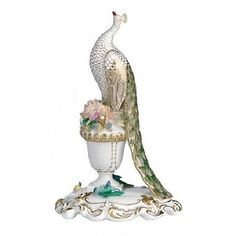 New Royal Crown Derby 1st Quality Tall Peacock Figurine with Gift Box
