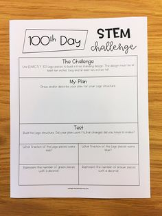 I've never done anything for the 100th day of school. Every year the 100th day would roll around, and my students would always be so disappointed!