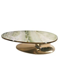 High End Design Table With Onyx Marble Top.