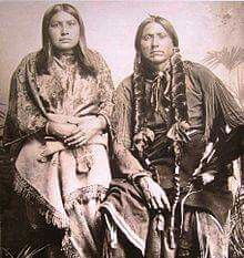 Quanah Parker (c. 1840 - sits and poses for a photograph with one of his eight wives after his capture, Fort Sill, Oklahoma, June Native American Pictures, Native American Beauty, American Indian Art, Native American History, Early American, Native American Indians, American Life, Indian Tribes, Native Indian