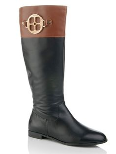 """IMAN Global Chic """"Colorblock Riding Boot,"""""""