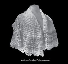 Crochet  Circular Shawl - free antique pattern!