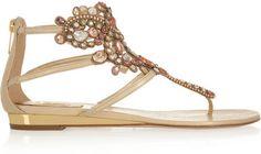Rene Caovilla Swarovski crystal-embellished leather sandals on shopstyle.com