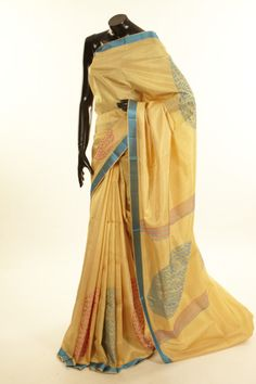 silk light orange saree with blouse