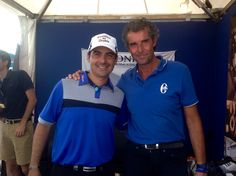 Felipe Aguillar in Raimondi stand  #raimondi #raimondigolfshoes #golfshoes #opendefrance #madeinitaly #handmadeinitaly #alstomopendefrance