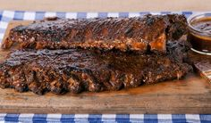 Spiced Baby Back Ribs with Rhubarb BBQ Sauce,.this is a fabulous recipe with a homemade spice rub and an amazing homemade sauce! Rhubarb Bbq Sauce, Vanilla Sheet Cakes, Grilled Sardines, Veggie Cups, Boston Baked Beans, Pork Schnitzel, Pork Salad, Whole Roasted Cauliflower, Rib Recipes