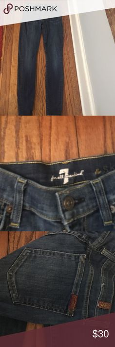"Jeans Seven designer jeans ""the skinny"" inseam is 29, excellent condition Seven7 Jeans Skinny"