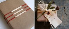 Simple and fabulous brown kraft paper or brown bag wonderfulness. Raffia, price tags, string, popsicle sticks
