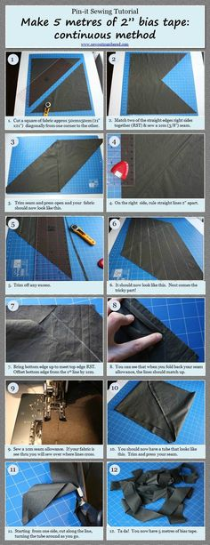 Tutorial: How to make bias tape