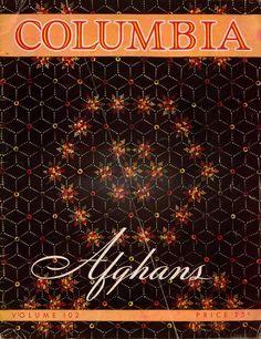 Columbia #102 Afghans Crochet Patterns Floral Autumn Afghan Stitch Motifs 1942 #ColumbiaJamesLees