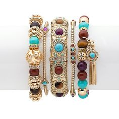 "R.J. Graziano ""World Exotic"" Set of 5 Mixed Bracelets"