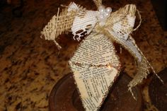 shabby chic Christmas ornament by ClementinesLoft on Etsy, $8.00  Seriously?