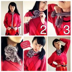 KNOT JUST A SCARF: Ways to Tie A Silk Scarf - 80+ Ways To Wear A Silk Scarf! Without distracting reblogs :)