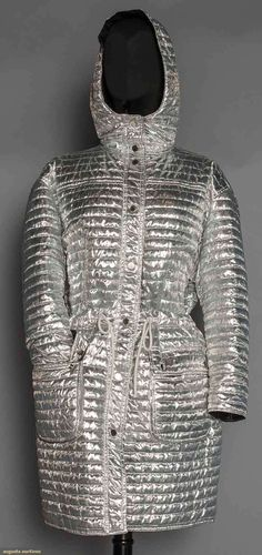 Courreges Silver Metallic Coat, Mid 20th C, Augusta Auctions - Up for auction November 11, 2015 NYC