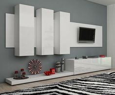 Furniture Modern Wall Units Living Room TV Cabinets TV Stands | eBay
