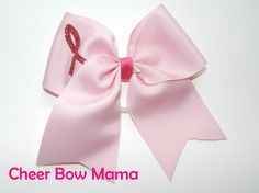 2-1/4 inch Pink Breast Cancer Awareness Cheer Bow by Cheer Bow Mama