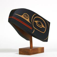Steve  SMITH Red Cedar Sculpture-Raven