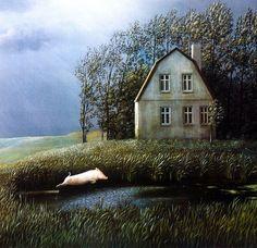 Painting by German Artist Michael Sowa