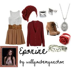 Eponine from Les Miserables, created by willyoubemyanchor on Polyvore