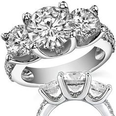3 stone engagement rings are great. When thinking about 3 stone engagement rings, there are a lot of things that you have to consider in actually maximum. Oval Solitaire Engagement Ring, 3 Stone Engagement Rings, Enagement Rings, Forever Brilliant Moissanite, Diamond Bands, Opal, Sparkle, Jessica Sanchez, Women's Rings
