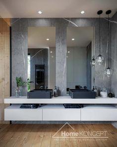 Projekt domu HomeKONCEPT-70 | HomeKONCEPT Bathroom Design Luxury, Bathroom Interior, Modern Bathroom, Home Interior Design, Small Bathroom, Master Bathroom, Interior Architecture, Scandinavian Bathroom, Bungalow