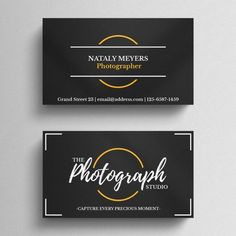 Photography Business Card Template - The Scrapbook Collection Vertical Business Cards, Black Business Card, Free Business Card Templates, Business Card Mock Up, Business Logos, Layout, Professional Business Card Design, Photography Business Cards, Letterpress Business Cards