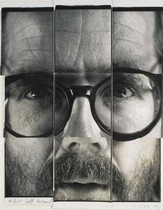 Chuck Close, 9-Part Self Portrait, unique collage of large-format Polapan prints