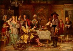 William Penn in King Charles II's Breakfast Chamber in Whitehall
