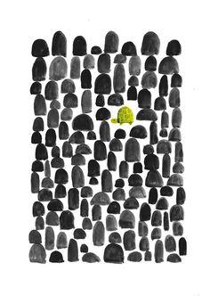 Poster | TURTLE IN STONE GARDEN von Budi Kwan