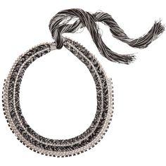 Alyssa Norton  Vintage Rhinestone & Silk Necklace
