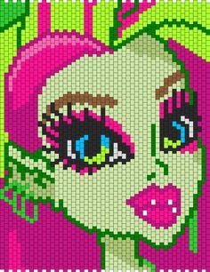 Monster High Venus McFlytrap bead pattern