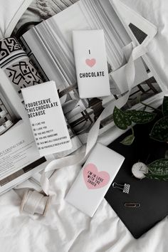 Free printable chocolate bar wrappers. Create the perfect treat for Valentine's Day!
