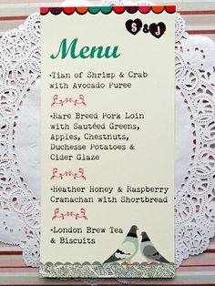 valentines menus london