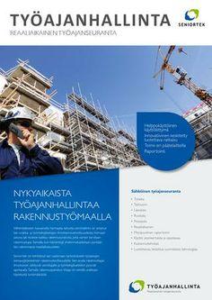 Työajanhallinta rakennustyömaille - Seniortek Oy Turvallisuuden edelläkävijä  #seniortek, #työajanhallinta www.seniortek.fi #proinnodesign