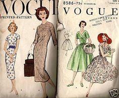 Vintage 1950s Dress Patterns